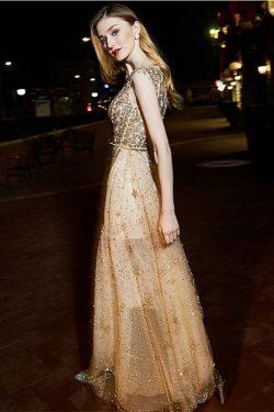 Brillante largo de una línea de lentejuelas brillantes vestidos de baile hermosos vestidos de no ...