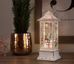 Christmas White Snowman Water Lantern
