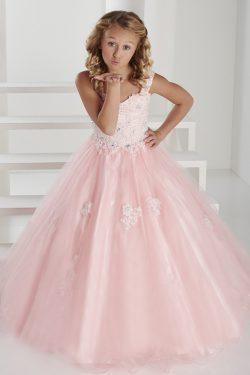 2018 correas con cuentas y apliques de tul vestidos de niña de las flores de longitud de US$ 129 ...