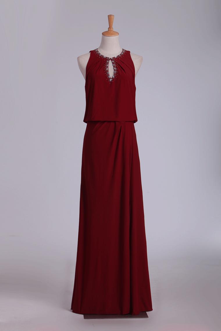 2018 Cuchara de columna de gasa con rebordear vestidos de baile US$ 79.99 VTOP3XZCT7E – Ve ...
