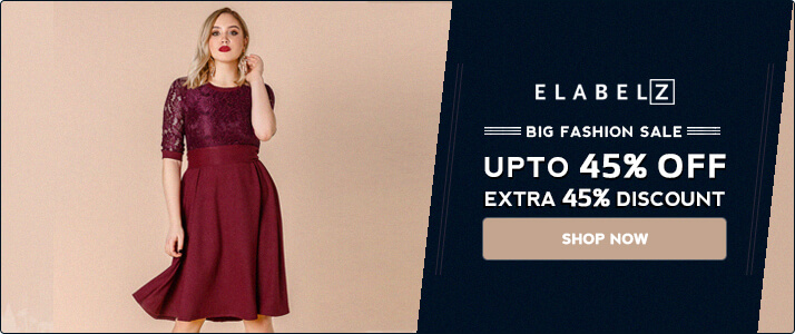 Shop from Elabelz & Get Upto 45% OFF + Extra 45% OFF on Orders