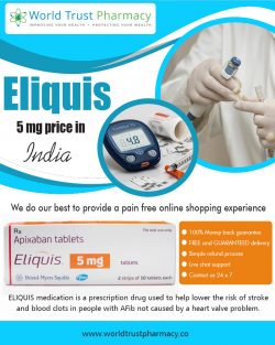 Eliquis 5 mg Price in India