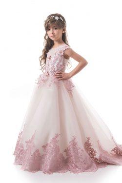 2019 Flor De Tulle Vestidos Scoop Con Applique Y Flores A Mano Una Línea US$ 149.99 VTOP5YHR1Q5  ...