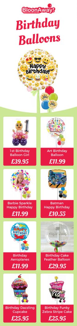 Get Next Day Delivery for Helium Inflated Birthday Balloons in the UK
