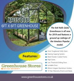 Halls Qube 6ft x 6ft Greenhouse | 800 098 8877 | greenhousestores.co.uk
