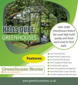 Halls Qube Greenhouses | 800 098 8877 | greenhousestores.co.uk