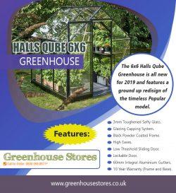 Halls Qube 6×6 Greenhouse | 800 098 8877 | greenhousestores.co.uk