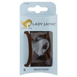 Lady Jayne 17024BR Velvet Hair Elastic Brown Packet 8
