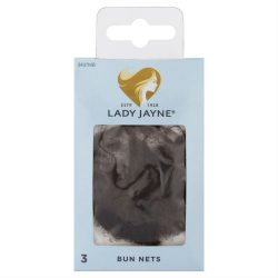 Lady Jayne Bun Nets, Mid Brown, Pk3