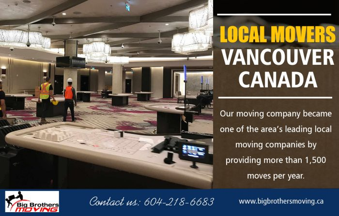 Local Movers Vancouver Canada