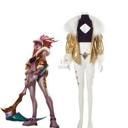 LOL KDA Skin Akali Blond Outfit Fullsets Cosplay Costume