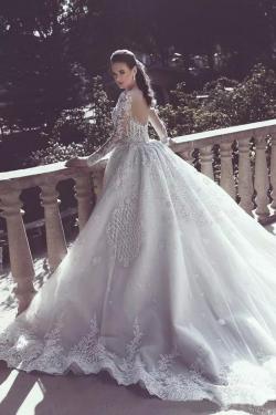 2019 Manga Larga Scoop sirena con vestidos de novia de Tulle Tulle US$ 399.99 VTOPZ84ZF19 &#8211 ...