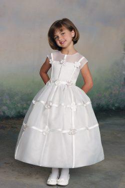 Nueva llegada vestidos de flores niña vestido de fiesta cucharada de longitud de té Organza US$  ...