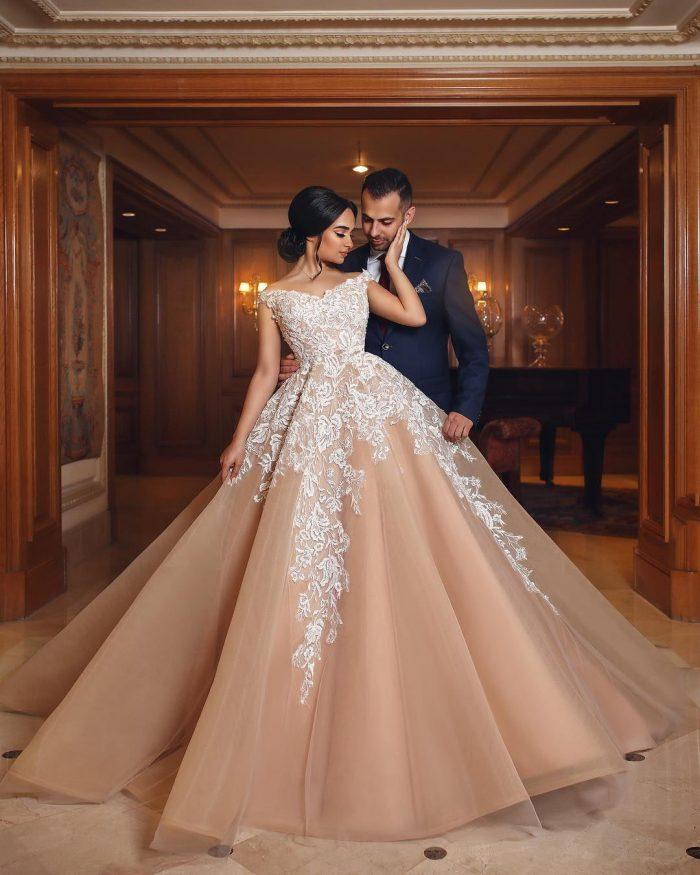 Designer Brautkleider Mit Spitze A Linie Prinzessin Hochzeitskleider Online