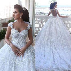 Luxus Prinzessin Brautkleider Spitze Perlen Hochzeitskleider Günstig Online