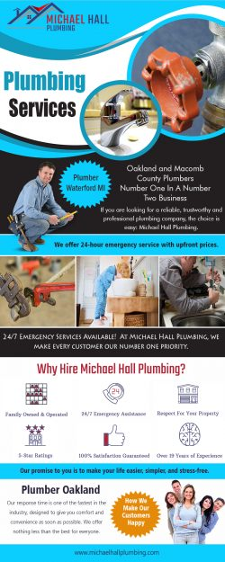 Plumber Troy MI | Call – 586-298-7285 | michaelhallplumbing.com