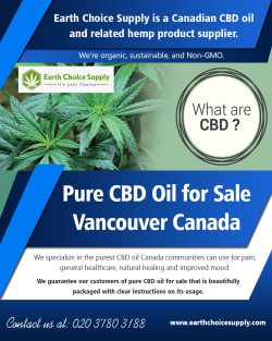 Pure CBD Oil for Sale Vancouver Canada | earthchoicesupply.com