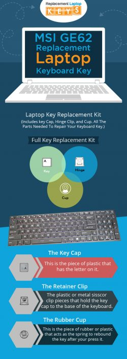 Shop MSI GE62 Laptop Keyboard Replacement Keys from Replacement Laptop Keys