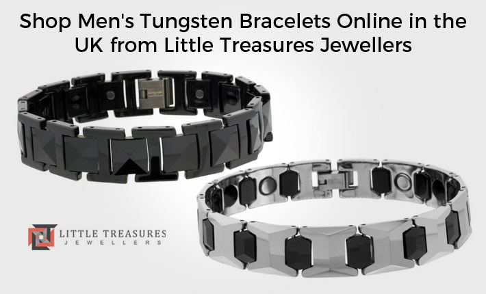 Shop Men's Tungsten Bracelets Online in the UK from Little Treasures Jewellers