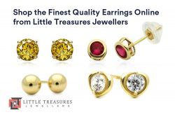 Shop the Finest Quality Earrings Online from Little Treasures Jewellers