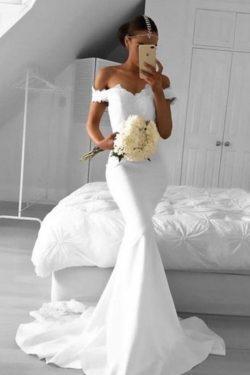 2019 simple sirena Prom vestidos de la Spandex hombro con Appliques US$ 149.99 VTOPLZJLSN1 ̵ ...