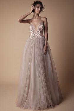 2019 Spaghetti Straps Prom Vestidos De Tulle Con Applique Y Flor A Mano US$ 149.99 VTOPN6855DF & ...
