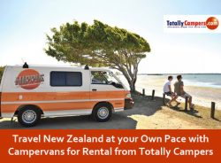 Travel New Zealand at your Own Pace with Campervans for Rental from Totally Campers