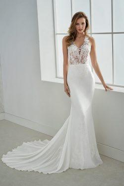 2019 V cuello sirena vestidos de novia gasa con apliques tribunal tren US$ 249.99 VTOPYJQPPLS &# ...