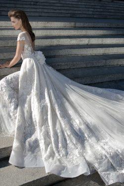 2017 vestidos de boda Bateau vaina con apliques y la banda manga corta US$ 389.99 VTOP3S66HDZ &# ...