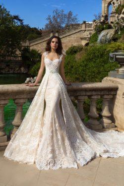 2019 vestidos de boda de la sirena del cordón con el tren desprendible Tren de la catedral US$ 3 ...