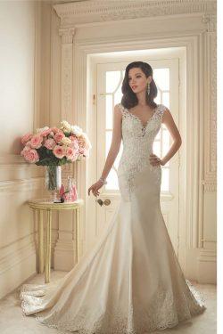 2017 vestidos de boda de la sirena V-cuello tribunal Satén Con apliques espalda abierta US$ 299. ...