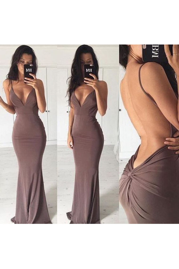 2018 vestidos de noche de la sirena de las correas de espagueti espalda abierta Spandex US$ 109. ...