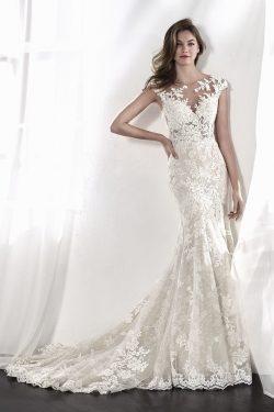 2019 Vestidos de novia Scoop Open Back Lace con apliques botón cubierto US$ 299.99 VTOPX1H476L & ...