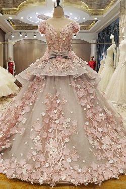 2019 vestidos de novia cucharada de organza de tul blanco cremallera de la espalda palabra de lo ...