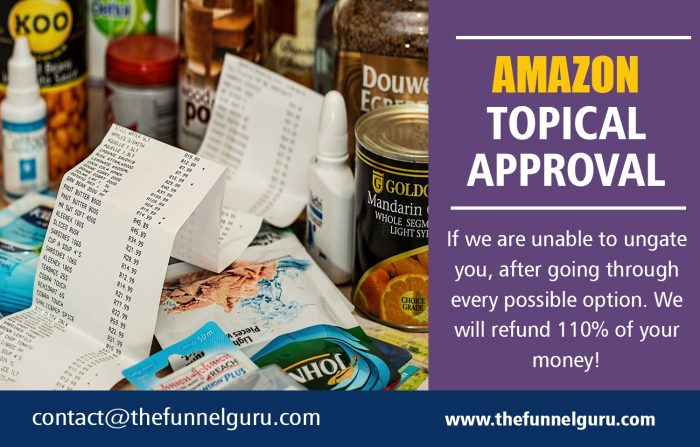 Amazon Topical Approval | thefunnelguru.com