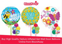 Buy High Quality Helium Inflated Get Well Soon Balloons Online from BloonAway