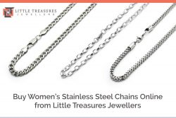 Buy Women's Stainless Steel Chains Online from Little Treasures Jewellers