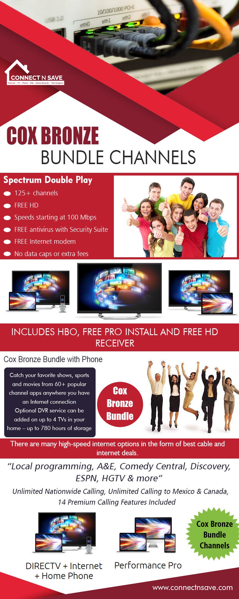 Cox Bronze Bundle Channels | 8554858733 | connectnsave.com