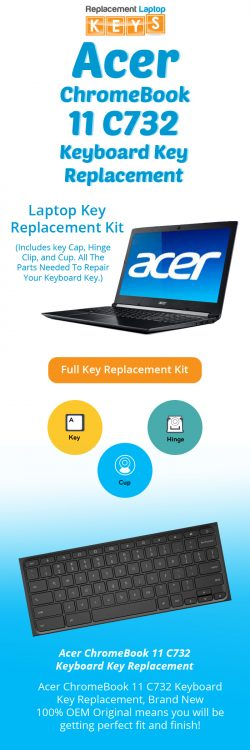 Shop Brand New OEM Acer ChromeBook 11 C732 Laptop Replacement Keys
