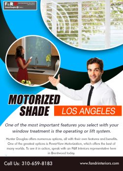 Motorized shade Los Angeles