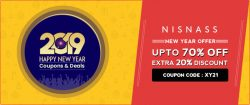 Nisnass Exclusive Coupon Code: Upto 70% Off + Extra 20% Discount on Orders