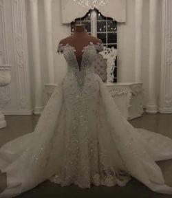 Luxus Brautkleider A Linie | Hochzeitskleider online Kaufen
