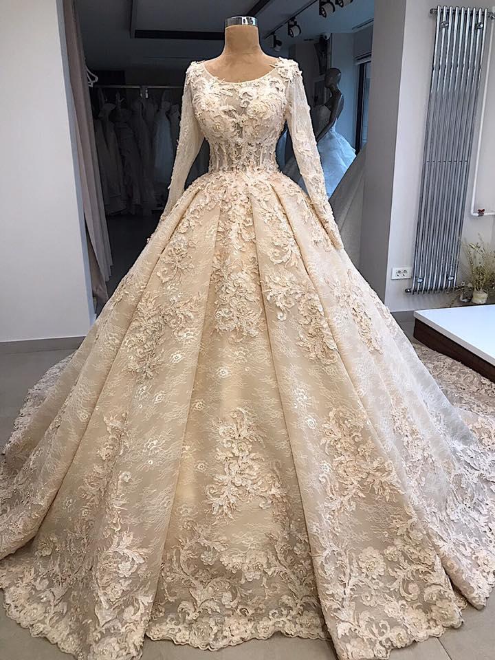 Vintage Hochzeitskleid Mit Spitze | Brautkleid Mit Ärmel Online