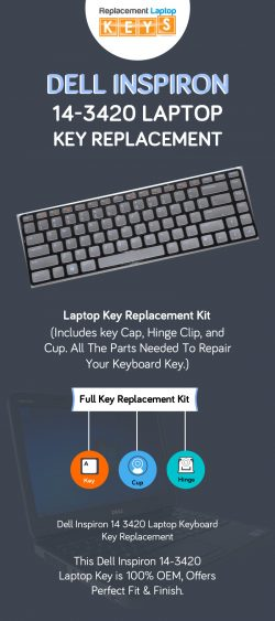Shop Dell Inspiron 14-3420 Laptop Replacement Keys from Replacement Laptop Keys