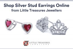 Shop Silver Stud Earrings Online from Little Treasures Jewellers