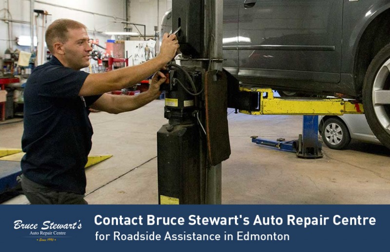 Contact Bruce Stewart's Auto Repair Centre for Roadside Assistance in Edmonton