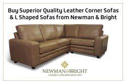 Buy Superior Quality Leather Corner Sofas & L Shaped Sofas from Newman & Bright