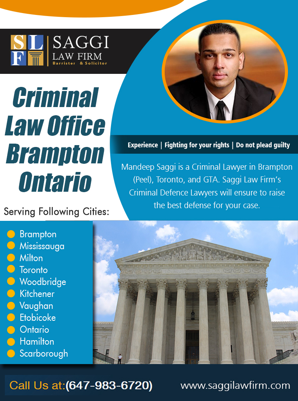 Criminal Law Office Brampton Ontario