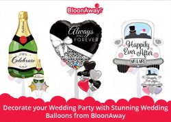 Decorate your Wedding Party with Stunning Wedding Balloons from BloonAway