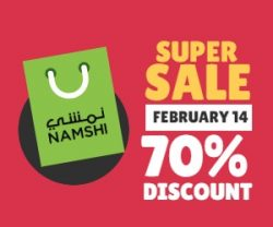 Namshi Valentine Super Sale: Save 70% on Shopping